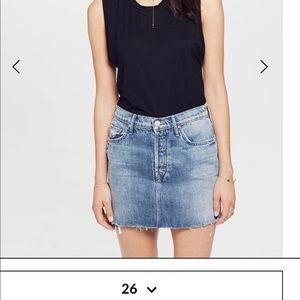 Mother fray miniskirt